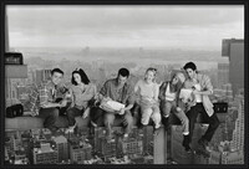 Friends - Lunch On A Skyscraper Poster su legno