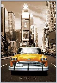 New York taxi no. 1 Poster su legno