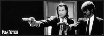Pulp Fiction - b&w guns Poster su legno