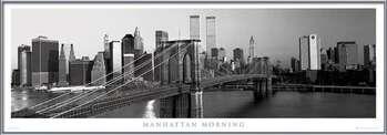 Manhattan - morning b&w Poster su legno