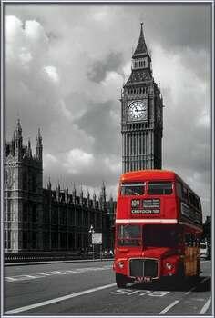 London red bus Poster su legno
