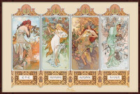 Poster alfons mucha four seasons su for Cornice poster 61x91