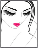 Lash extension beauty icon Poster Incorniciato