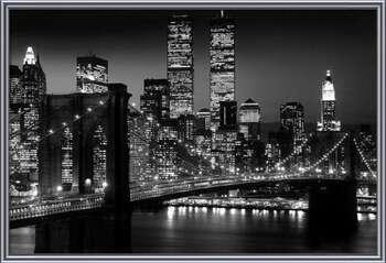 Manhattan - Night Poster Incorniciato