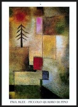 P.Klee - Piccolo Quadro Di Pino Poster Incorniciato