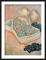 Claude Monet - The Basket of Grapes, 1884 Poster Incorniciato