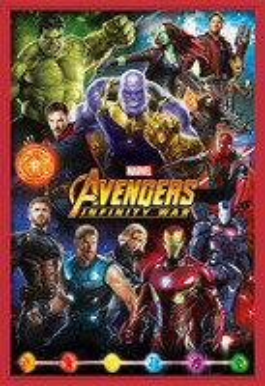 Avengers: Infinity War – Characters Poster Incorniciato