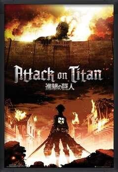 Poster incorniciato Attack on Titan (Shingeki no kyojin) - Key Art