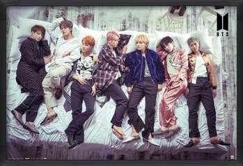 Poster incorniciato BTS - Bed