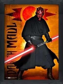 Poster incorniciato STAR WARS - darth maul