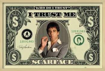 Poster incorniciato SCARFACE - dollar