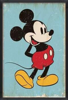 Poster incorniciato Mickey Mouse - Retro