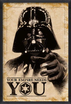 Poster incorniciato Star Wars - Your Empire Needs You