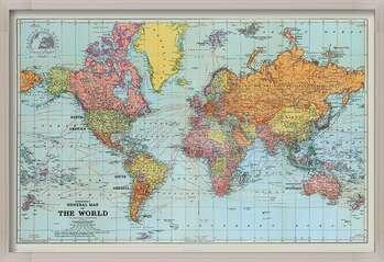 Poster incorniciato Stanfords General Map Of The World - Colour