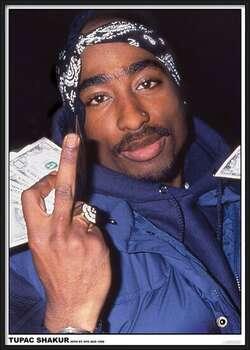 Poster incorniciato Tupac - Finger