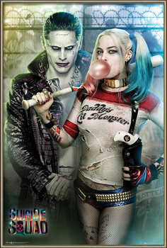 Poster incorniciato Suicide Squad - Joker and Harley Quinn