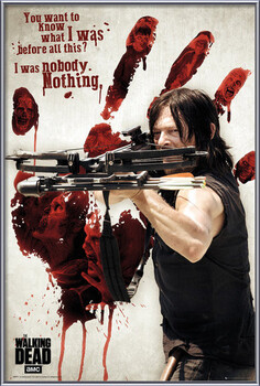 Poster incorniciato Walking Dead - Bloody Hand Daryl
