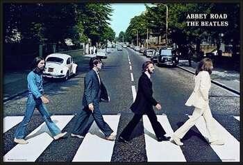 Poster incorniciato Beatles - abbey road