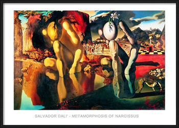 Poster incorniciato Salvador Dali - Metamorphosis Of Narcissus