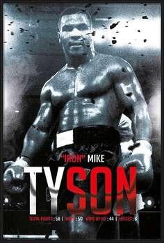 Poster incorniciato Mike Tyson - Boxing Record