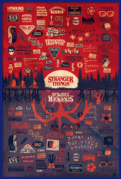 Poster incorniciato Stranger Things - The Upside Down
