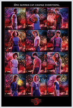 Poster incorniciato Stranger Things - Character Montage