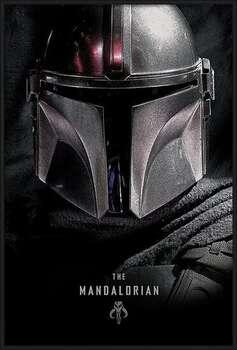 Poster incorniciato Star Wars: The Mandalorian - Dark