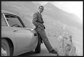Poster incorniciato James Bond - Connery & Aston Martin