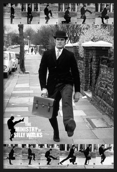 Poster incorniciato Monty Python - the ministry of silly walks