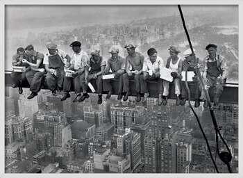 Poster incorniciato Lunch on a skyscraper