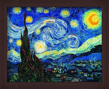 Poster incorniciato The Starry Night, June 1889