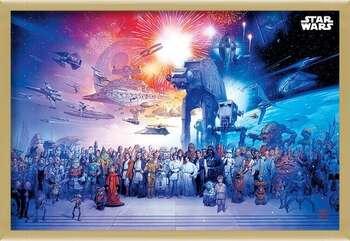 Poster incorniciato Star Wars - Universe