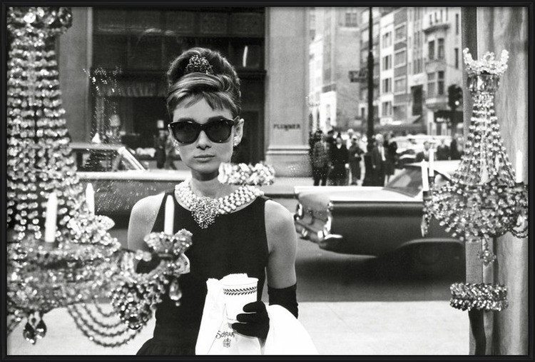 Poster  Audrey Hepburn - window