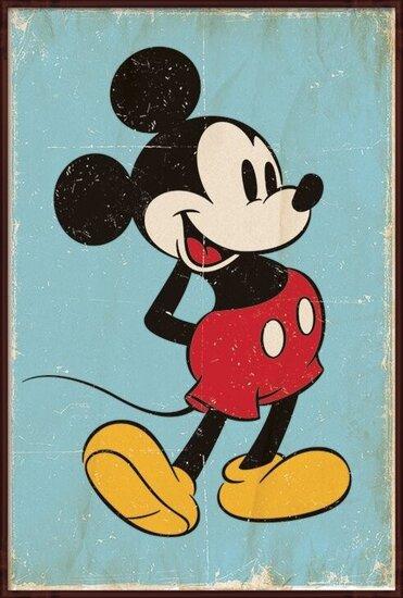 Poster  Topolino (Mickey Mouse) - Retro