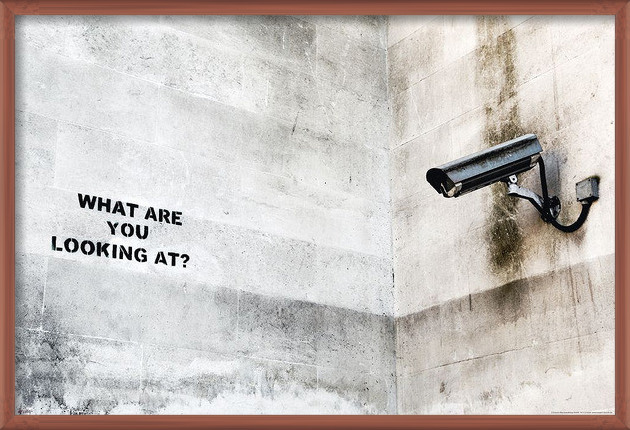 Poster  Banksy street art - Graffiti Camera