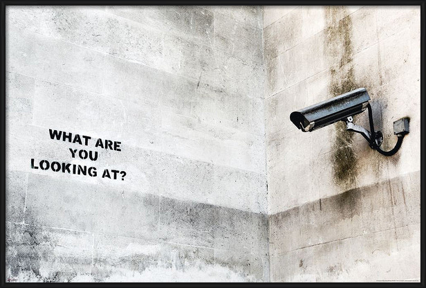 Poster  Banksy street art - Graffiti Camera