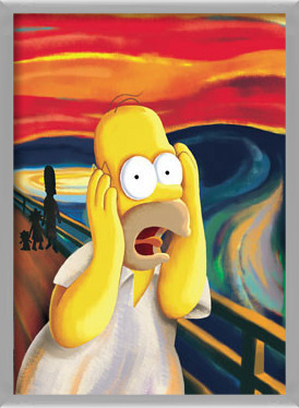 Poster  THE SIMPSONS - scream