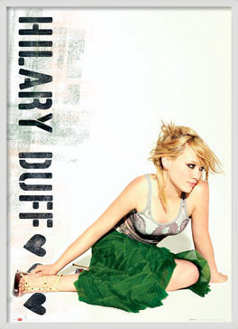 Poster Hilary Duff - green skirt