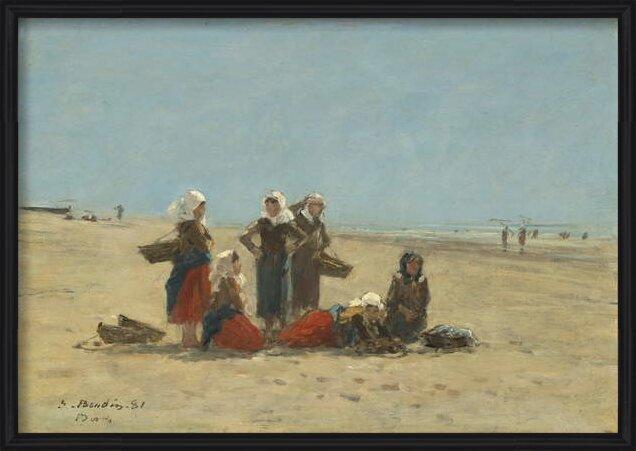 Women on the Beach at Berck, 1881 - Stampe d'arte
