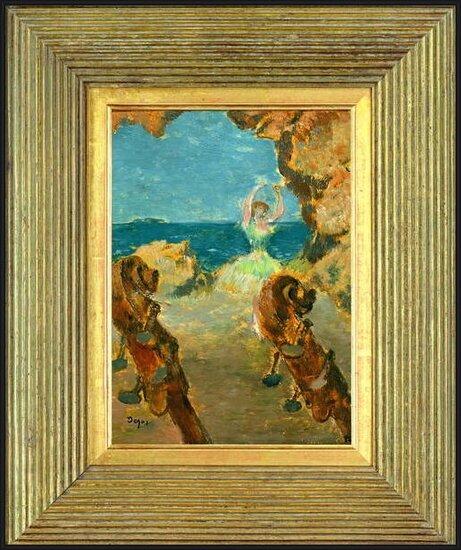 The Ballet Dancer, 1891 (oil on mahogany panel) - Stampe d'arte