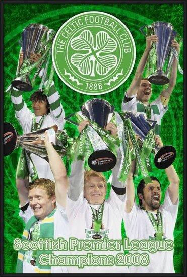Poster Celtic - spl champs 07/08