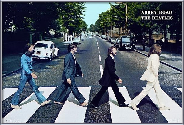 Poster Beatles - abbey road