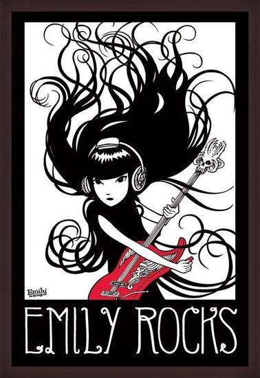 Poster  Emily the strange - emily rocks