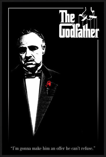 Poster  THE GODFATHER - red rose