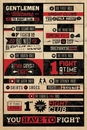 FIGHT CLUB RULES INFOGRAPHIC