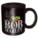 Bob Marley – Distressed Logo Black